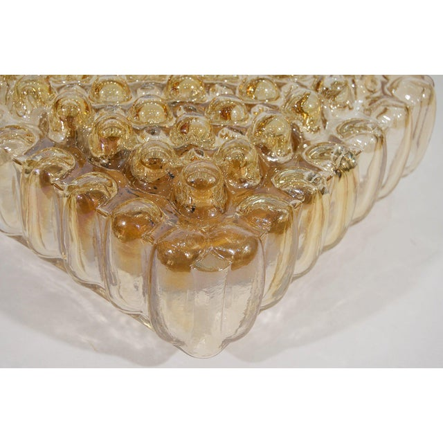 Metal Bubble Amber Tone Flush Mount For Sale - Image 7 of 8