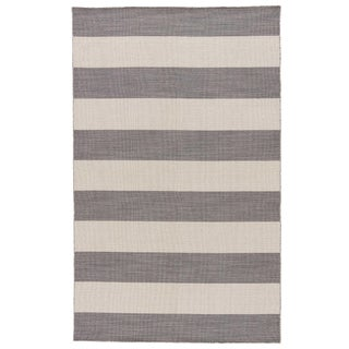 Jaipur Living Tierra Handmade Striped Gray/ White Area Rug - 9′6″ × 13′6″ For Sale