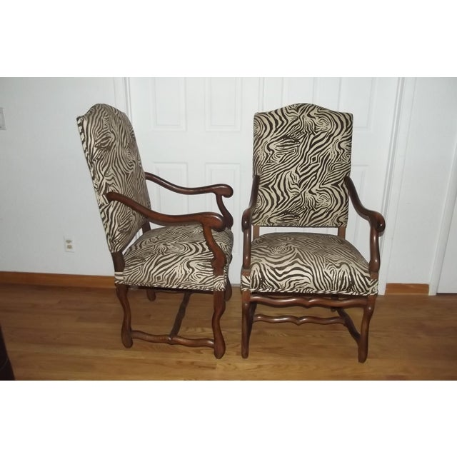 Louis XIII 19th Century Louis XIII Style Armchairs - a Pair For Sale - Image 3 of 5