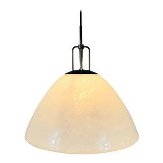 Opaline Glass Round Ceiling Lamp by Glashütte Limburg, 1960s, Germany For Sale