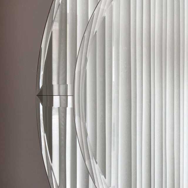 1980s Karl Springer Large Saturn Wall Mirror For Sale - Image 5 of 10