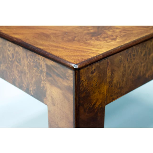 Wood Pair of Burl Wood Side or End Tables 1970s For Sale - Image 7 of 10