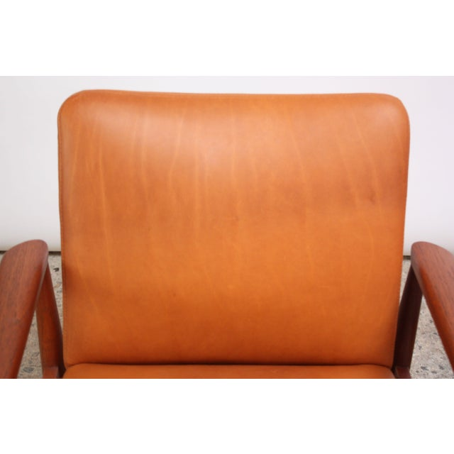Pair of Finn Juhl Diplomat Armchairs for France & Son in Leather and Teak For Sale - Image 10 of 13