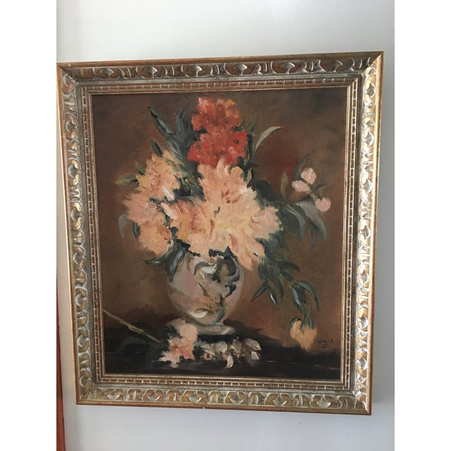 Floral Still Life Oil Painting - Image 3 of 8