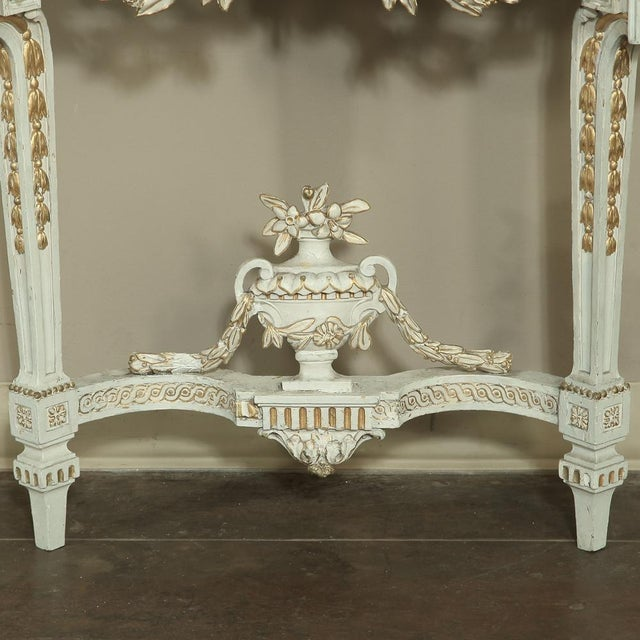 19th Century Swedish Neoclassical Marble-Top Painted Console For Sale - Image 11 of 12