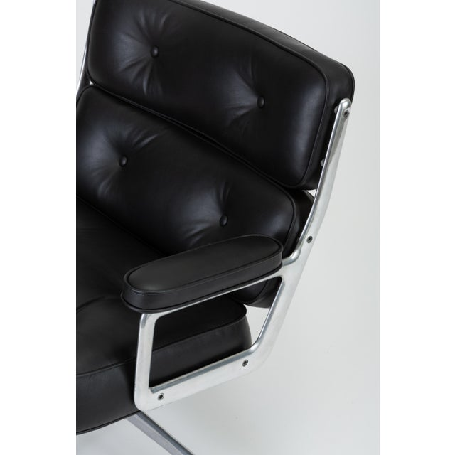 Black Leather Time Life Lobby Chair by Ray and Charles Eames for Herman Miller For Sale - Image 11 of 13