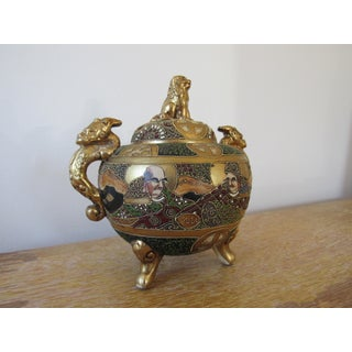 Early 20th Century Moriage Japanese Censer Incense Burner Preview