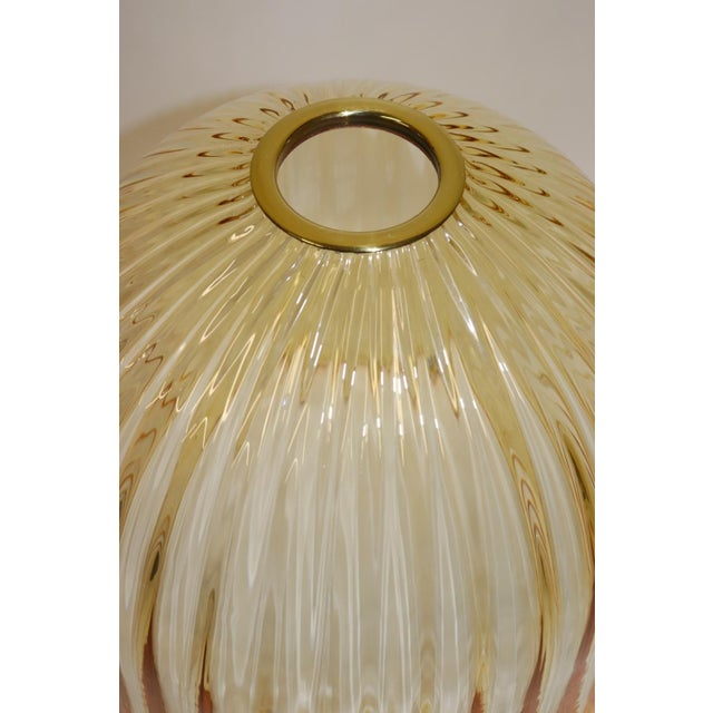 Amber Rare Mid-Century Modern Murano Glass Table Lamp For Sale - Image 8 of 13