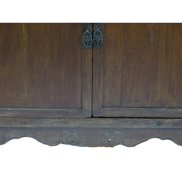 Elm Asian Style Elmwood Book Cabinet For Sale - Image 7 of 8