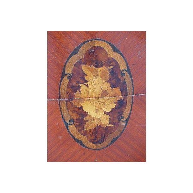 Marquetry & Inlay Marble Top Chest For Sale - Image 9 of 11