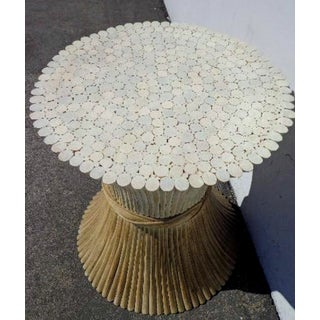 1970s Hollywood Regency McGuire Sheaf Wheat Dining Table Base Preview