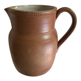 Vintage Salt Glazed Pottery Pitcher For Sale