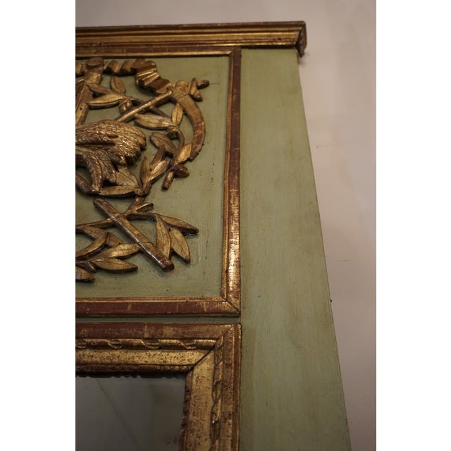 18th Century Louis XVI Trumeau Mirror For Sale In New Orleans - Image 6 of 11