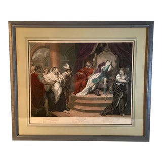 "Framed Shakespeare's ""Measure for Measure"" Engraving Print Dated 1796 For Sale"