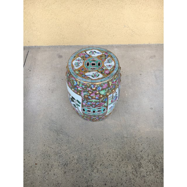 Contemporary Chinoiserie Garden Stool For Sale - Image 10 of 12