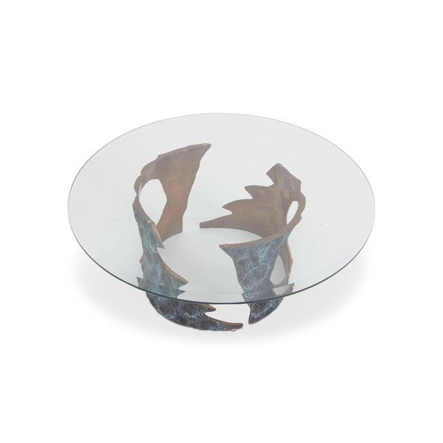 1970s Willy Ceysens Coffee Table in Solid Bronze & Glass For Sale - Image 5 of 8