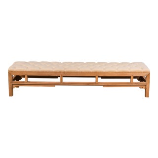 Sarreid LTD Bamboo Carved Bench For Sale