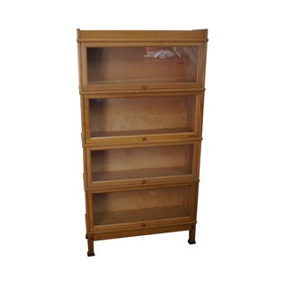 Vintage Maple Vertical Barrister Bookcase (A) For Sale