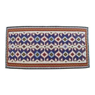 "Flat Weave Turkish Rug Kilim.Vintage Anatolian Area Rug - 3'5"" X 6'8"" For Sale"