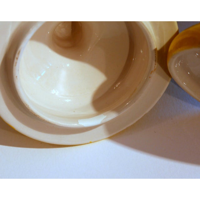 Yellow Vintage Italian Mancioli Pottery Yellow Covered Raymor Jar For Sale - Image 8 of 11