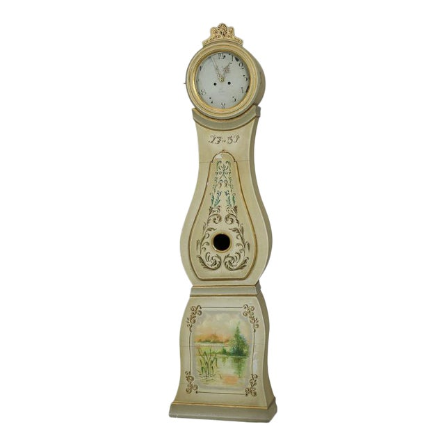 1751 Painted Mora Clock For Sale