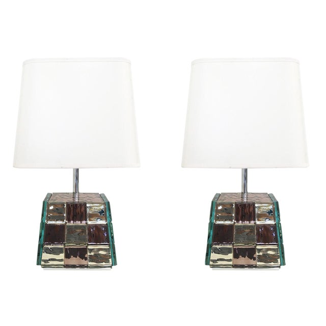 Contemporary Riflesso Table Lamp by Effetto Vetro for Gaspare Asaro For Sale - Image 3 of 11