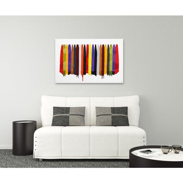 "Canvas ""Fils I Colors Cccxcii"" Original Artwork by Raul De La Torre For Sale - Image 7 of 9"