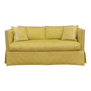 Wesley Hall Contemporary Blake Sofa With Nailhead Trim For Sale