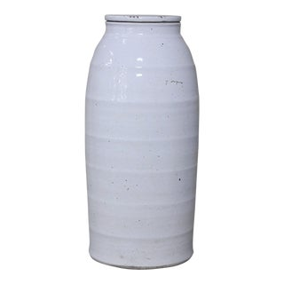 Sarreid Ltd. Large White Ceramic Milk Jar For Sale