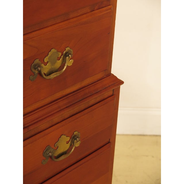 Henkel Harris Solid Cherry Rafferty High Chest For Sale - Image 9 of 13