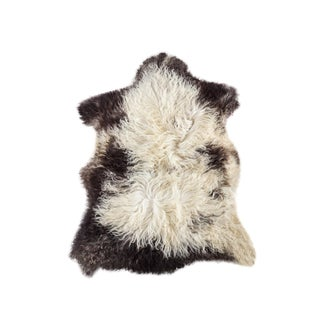 "Contemporary Natural Wool Sheepskin Pelt - 2'3""x3'2"""