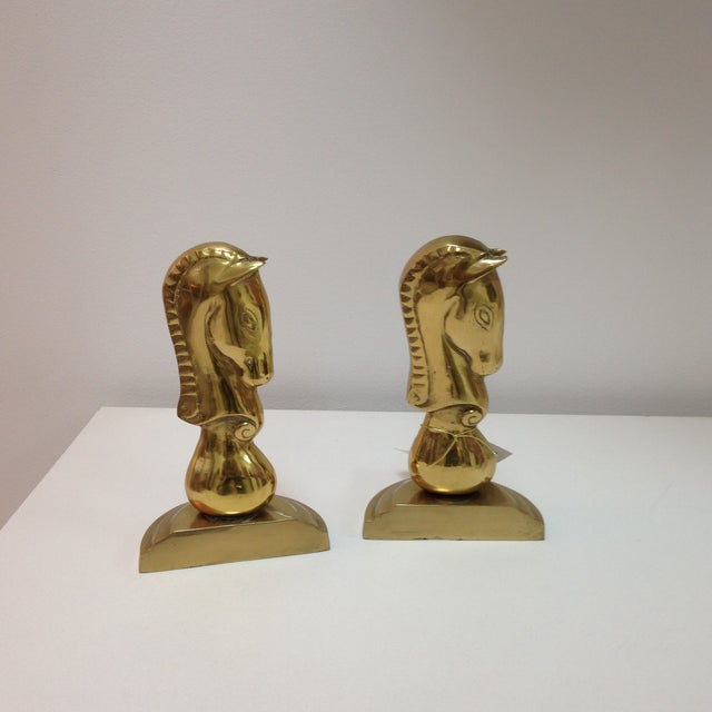 Brass Horse Bookends - Pair - Image 2 of 6