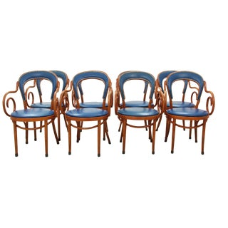 Shelby Williams Bistro Chairs in Navy - Set of 8