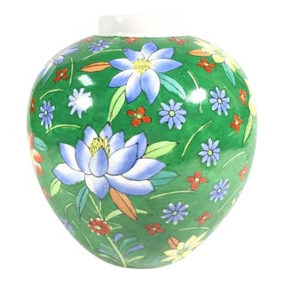 Hand Painted Floral Painted Vase