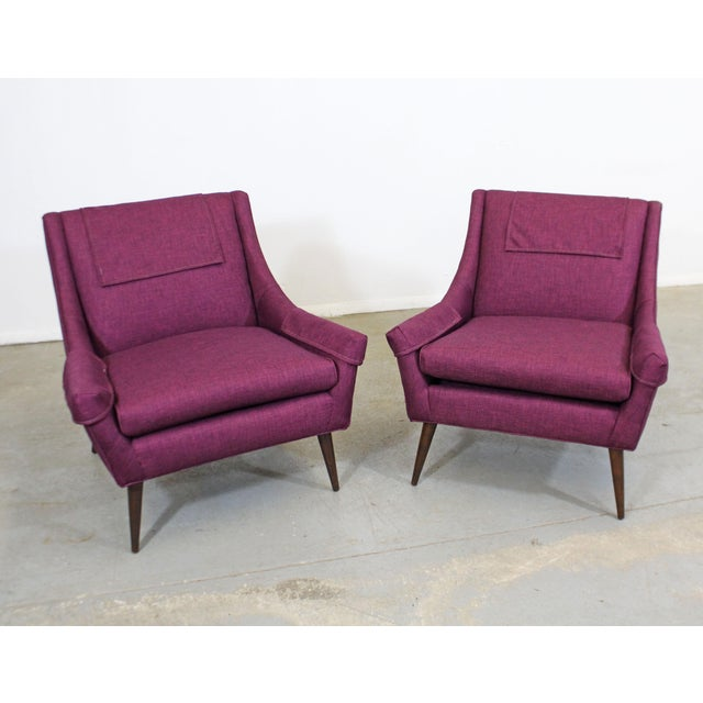 Danish Modern Pair of Mid-Century Modern Paul McCobb Style Lounge Chairs For Sale - Image 3 of 12
