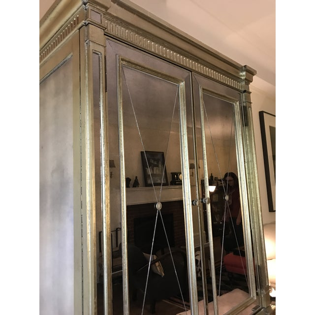 Mid-Century Modern Neiman Marcus Mirrored Armoire For Sale - Image 3 of 7