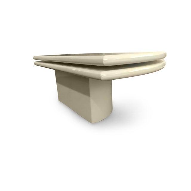 Memphis Group 1980s Memphis Revolving Circular Semi-Circular Coffee Table For Sale - Image 4 of 13