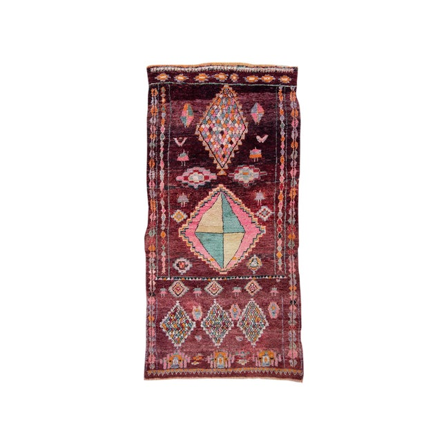 Moroccan Boujad Rug - 5′9″ × 11′8″ For Sale