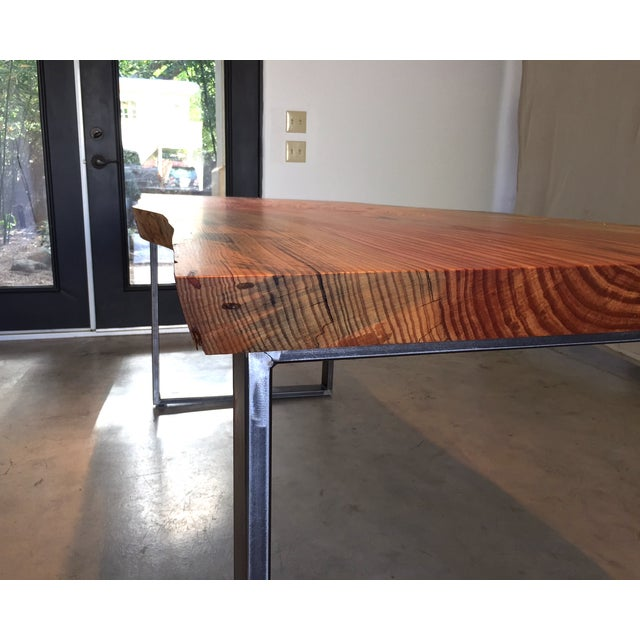 Ojai Stone Pine Live Edge Dining Table - Image 5 of 6