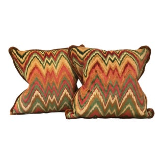 Red and Yellow Pillows - A Pair For Sale