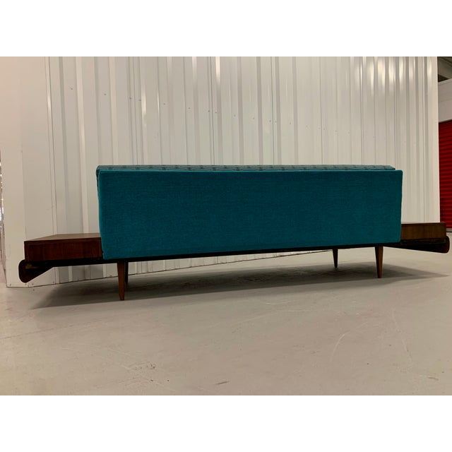 Adrian Pearsall Mid-Century Modern Adrian Pearsall Sofa in Josef Hoffmann Maharam Peacock Upholstery For Sale - Image 4 of 8