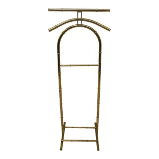 Vintage Hollywood Regency Faux Bamboo Style Valet Stand For Sale