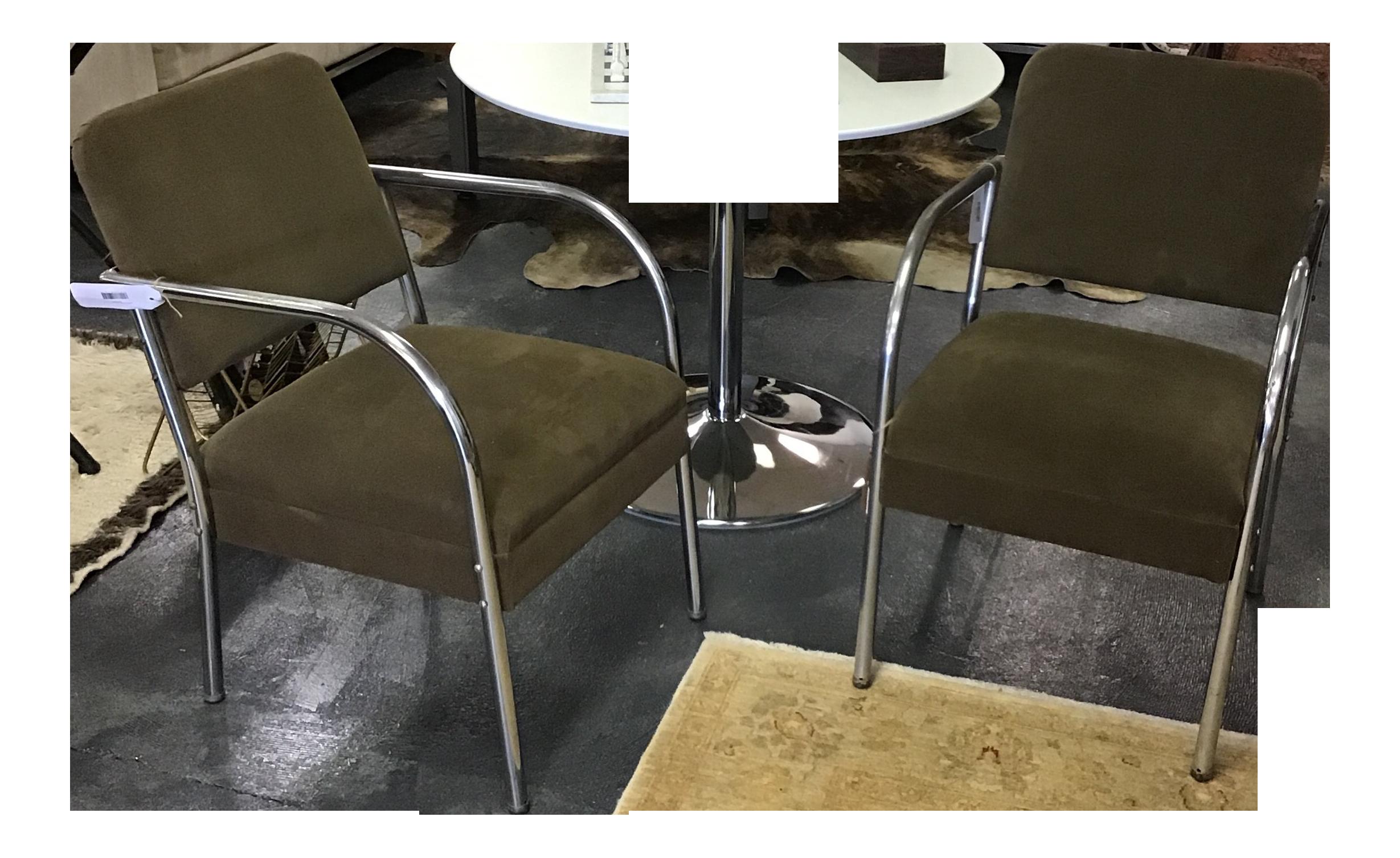 1930u0027s Art Deco Chrome Tubular Chairs   A Pair For Sale