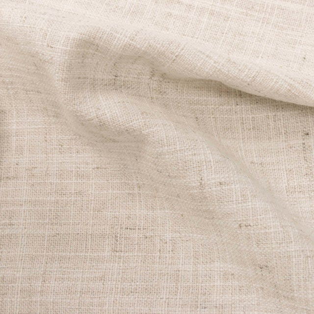 Linen Talc Full Nail Button Tufted Wingback Bed For Sale - Image 4 of 8