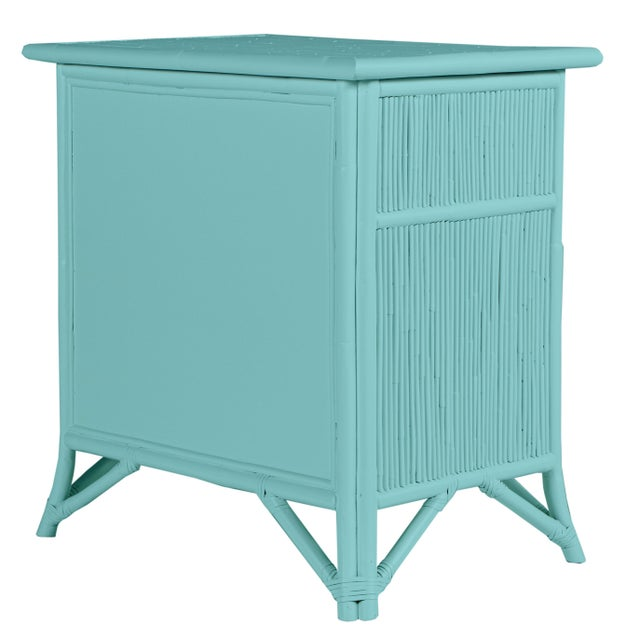 Coastal Aruba One-Drawer Nightstand - Turquoise For Sale - Image 3 of 7