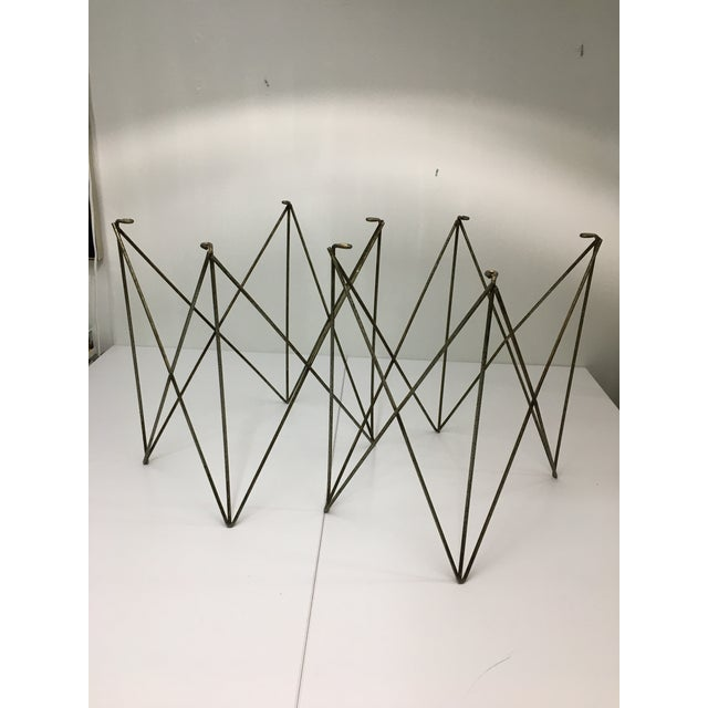 Mid-Century Modern Steel Wire Side Table Bases - a Pair For Sale - Image 11 of 11