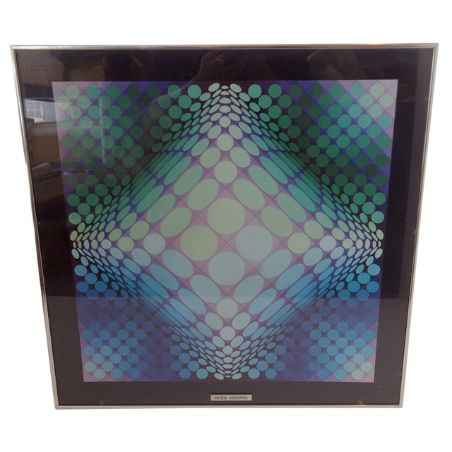 Modern Geometric Print by Victor Vasarely, 1960 For Sale