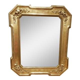 Early 19th Century Italian Gold Gilt Mirror For Sale