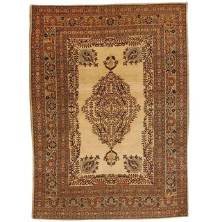 Exceptional Antique 19th Century Persian Tabriz Rug For Sale