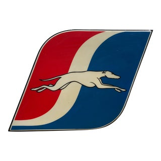 Vintage 1960s Greyhound Bus Sign